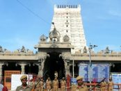 26/08/2013 - RAMESWARAM: Tamil Nadu Special Battalion Police were deployed at Ramanathasamy Temple after being alerted by Intelligence - Express Photo. [Tamil Nadu, Religion, Hindu, Security, Special Batallion Police, Ranganathasamy Temple, Rameswaram]